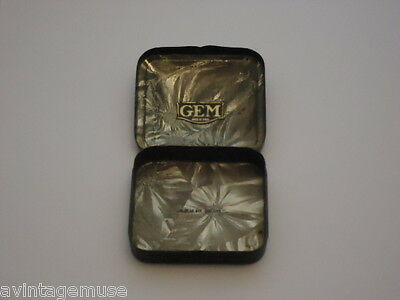 GEM SHAVING TIN ONLY No RAZORS BLADES MILITARY Maybe VTG Collectible SMALL BOX