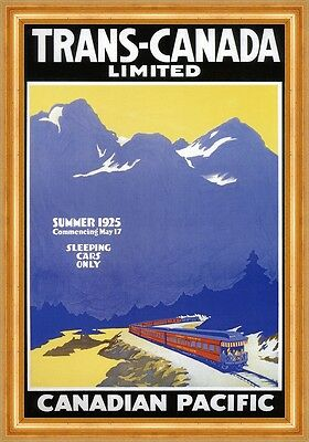 Trans Canada Limited Canadian Pacific Schlafwagenzug Gebirge Plakate A3 271