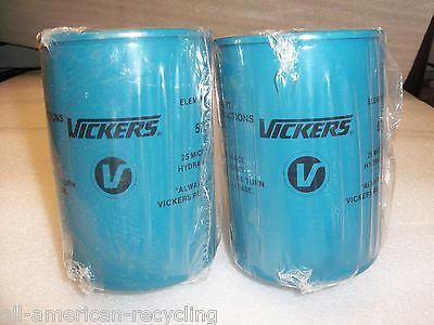 (2) Vickers / Eaton Hydraulic Oil Filter Elements 25-Micron 573083