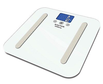 Salter MiBody 9154 WH3R Electronic Bluetooth Glass Analytical Scales White