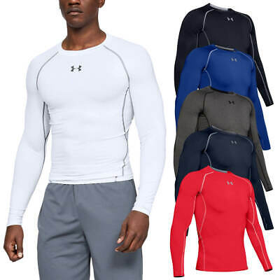 Under Armour Mens HeatGear Armour Long Sleeve Compression T Shirt UA Layer