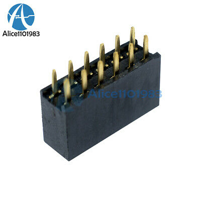 10PCS 2x6 12 Pin 2.54mm Double Row Female Straight Header Pitch Socket Pin Strip