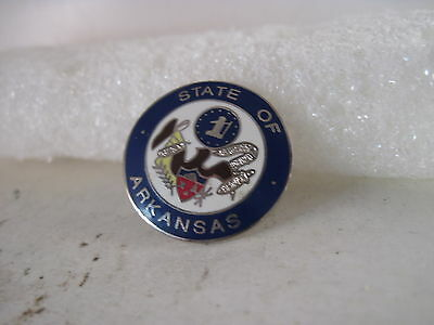 Arkansas     State Seal cloisonne  logo  lapel pin ( 5f4 )