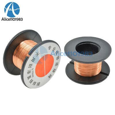 5PCS 0.1MM Copper Soldering Solder PPA Enamelled Repair Reel Wire