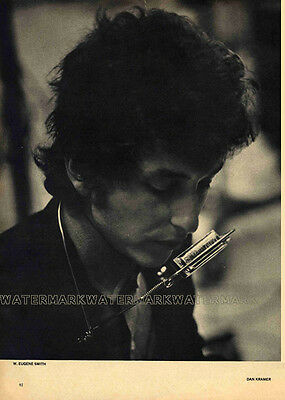 Bob Dylan photographed by W. Eugene Smith - Clipping from a 1967 magazine
