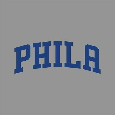 Philadelphia 76ers #7 NBA Team Logo Vinyl Decal Sticker Car Window Wall Cornhole