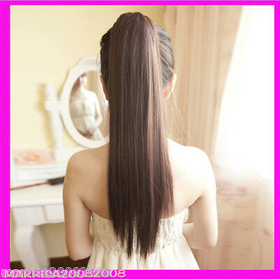 Hair Piece Extension-Natural Long Straight Tie-in Style Ponytail