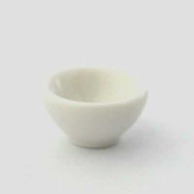 Dolls House Miniature: Small White Bowl  :  in 12th scale