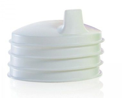 Tupperware Sipper Sippy Domed Seals Set of 4 Dome Lids - White - New in Package