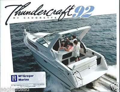 Boat Brochure - Thundercraft - Product Line Overview - 1992  (SH26)