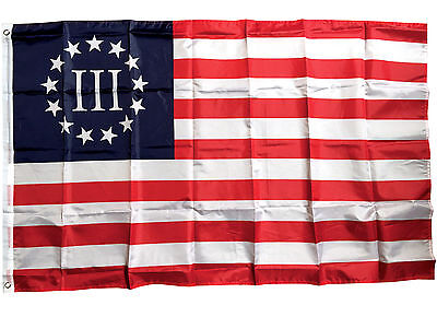 3x5 Ft Betsy Ross Nyberg III Flag 3 Percent Threeper Polyester b