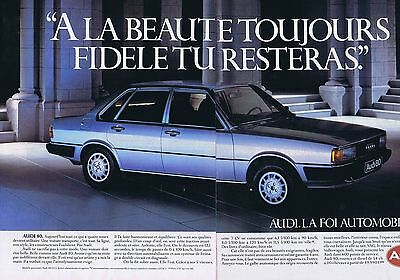 Other Breweriana Publicité Advertising 108 1983 Audi 80 Cd