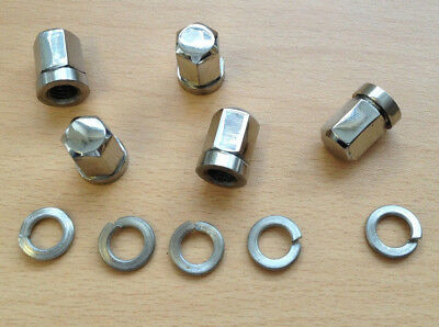 Vespa Px - T5 - Lml Stainless Tubeless Steel Wheel Nuts & Washers. Brand New