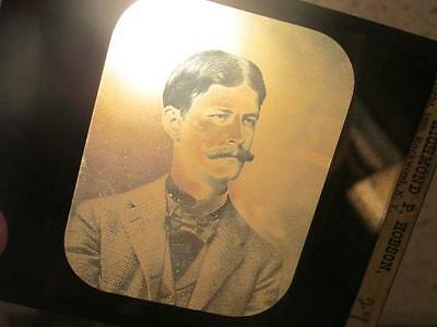 Lieut Richmond B Hobson Antique Glass Magic Lantern Slide Copyright 1898