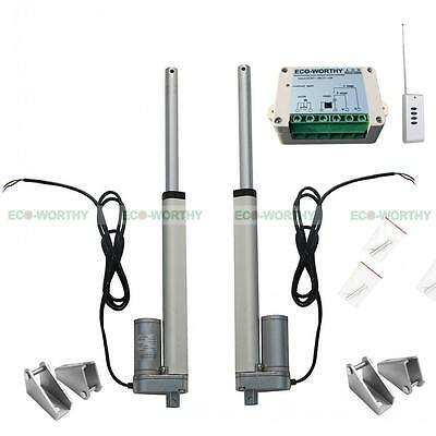 "2 Set 8"" Linear Actuator Motor & Wireless Control,Bracket 12Volt 1500N Medical"