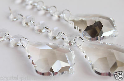 """""""Pack of 10"""" Clear French Crystals Prisms Chain Pendant Chandelier Weddings 6""""in"""
