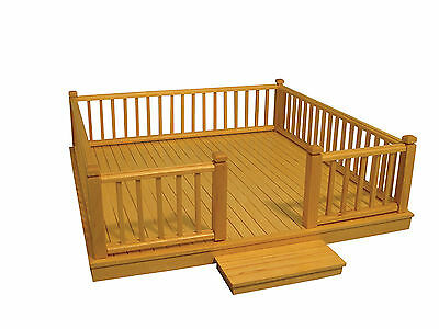 1:12 Scale Flat Pack Natural Finish Decking Dolls House Miniature Accessory