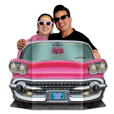 FABULOUS 50's PINK Convertible  Car PHOTO PROP Birthday Party Decoration