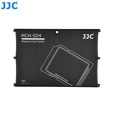 """JJC 0.2"""" Ultra Slim Credit Card Size Compact Wallet Memory Card Holder for 4 SD"""