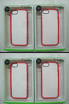 100 x QUALITY BELKIN Ruby/Clear View Case iPhone 5 & iPhone 5s F8W153qeC05 [07]
