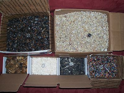100 fossil and white shark teeth  ammonites  and 100 gemstones per lot