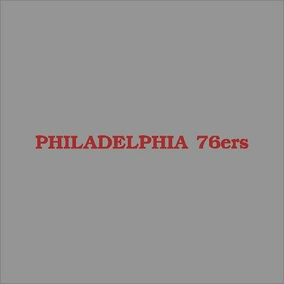 Philadelphia 76ers #9 NBA Team Logo Vinyl Decal Sticker Car Window Wall Cornhole