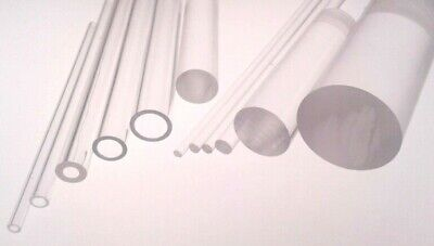 Plastic Tube & Rod Acrylic Extruded Clear Perspex Bar & Hollow Tubular Pipe