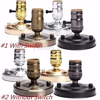 New E27/E26 Ceiling Vintage Retro Edison Screw Light Socket Holder Lamp Fitting