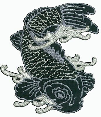 Écusson patche CARPE KOI Japon Tattoo thermocollant badge patch brodé