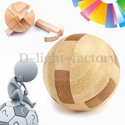Intelligence Wooden Puzzle Lock Ball Funny Brain Educational Magic Sphere Toy