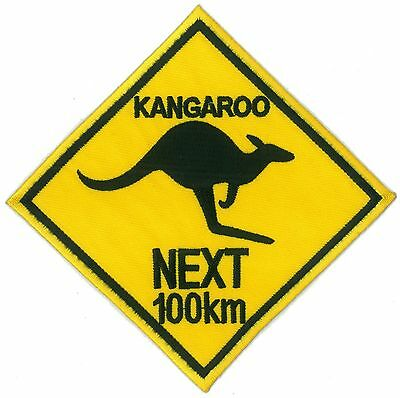 Ecusson patche Kangourou thermocollant iron-on patch Australie Outback  brodé