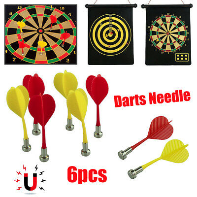 6pcs Magnetic Darts Toys Bullseye Target Game Plastic Wing Magnetic Darts Needle