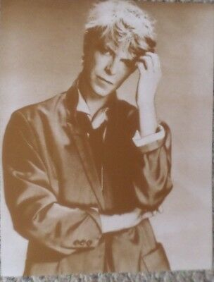 David Bowie Thinking In His Younger Days Sepia Poster