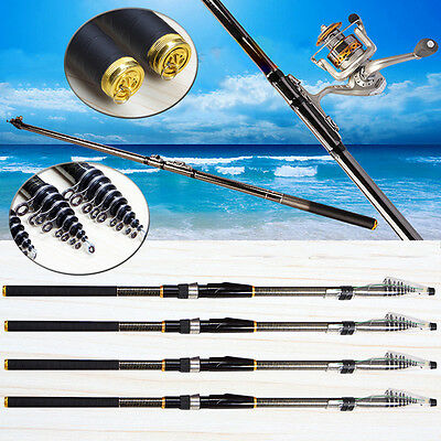 3.6m-6.3m Telescopic Casting Pole Carbon Spinning Fishing Rods For Saltwater Sea