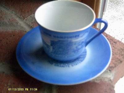 Lot of 10 Cup & Saucer Sets State of NH Souvenir 7583 Japan  (*)