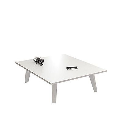 Symbiosis 2088A2100X00 Contemporain Table Basse Pieds Inclines Blanc 89 NEUF