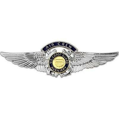 USCG Coast Guard Auxiliary Regulation Size Badge Air Crew   NEW  (USCG Issue)