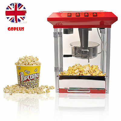 Goplus Popcorn Machine Commercial Electric Pop Corn Maker Popper Party Red 8Oz