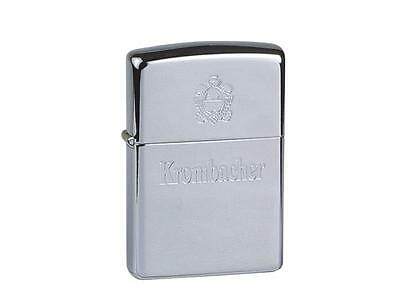 "ZIPPO ""KROMBACHER BEER"" POLISHED CHROME LIGHTER / 60001331 * NEW in BOX *"