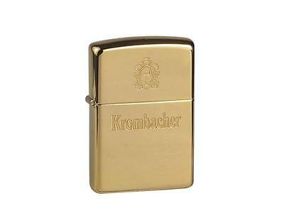 "ZIPPO ""KROMBACHER BEER"" POLISHED BRASS LIGHTER / 60001333 * NEW in BOX *"