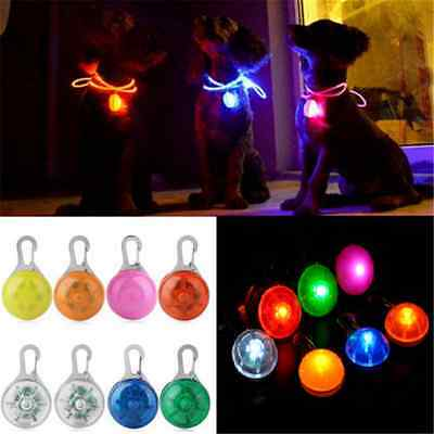 Lovely Fun Pet Dog Cat Puppy LED Flashing Collar Safety Night Light Pendant FT89