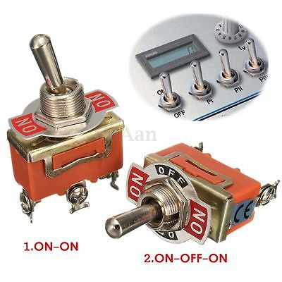 3 Pin Voiture Interrupteur à Bascule Levier Switch SPST ON-ON/ON-OFF-ON 250V 15A