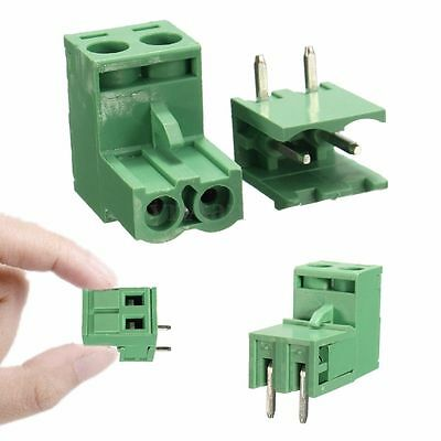 1/5/10x 2EDG 5.08mm 2Pin Plug-in Screw PCB Terminal Block Right Angle Connector