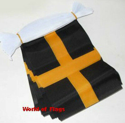ST DAVIDS CROSS FLAG BUNTING Fabric Welsh Wales 9m 30 Saint David Day Party