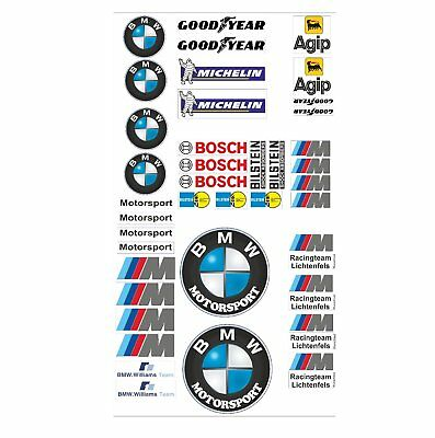 BMW Logo Autoaufkleber Sponsoren Marken Aufkleber Decals Tuning Sticker Set