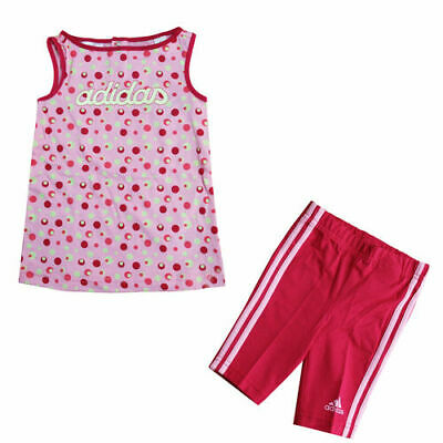 Adidas Top & Pants Girls Baby Toddlers Infants Set Dress Pink D87918 R7D