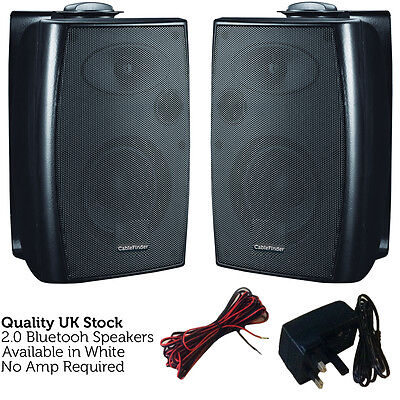 120W Bluetooth Active Speaker System – Black Stereo Wall Mounted Wireless Hi-Fi