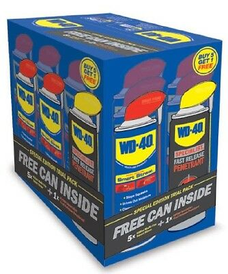 WD40 ORIGINAL x 5 + WD40 PENETRANT x 1 SMART STRAW SPECIAL PACK