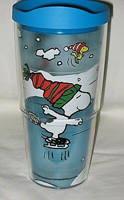 Tervis USA Peanuts Snoopy & Woodstock Ice Skating Wrap 24-oz Tumbler w/Lid