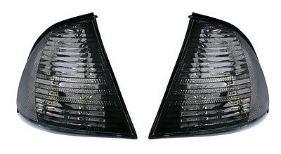 DEPO Lighting FRONTBLINKER SET SCHWARZ für 3er BMW E46 Limo Kombi -8/01 Blinker